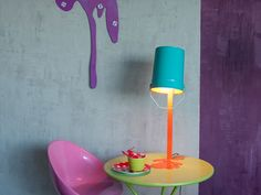 Oups Lamp Collection by Nathalie Bernollin Coloured table lamp
