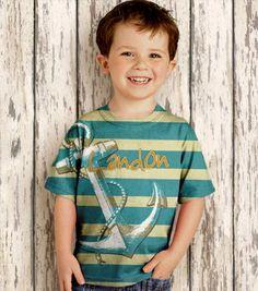 Boys Nautical T-Shirt, Personalized Anchor Childrens Clothing. $24.95, via Etsy.