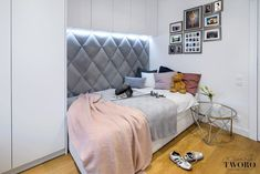 dappi - Galeria - panele tapicerowane, dekoracyjne, ścienne Bed Headboard Design, Bedroom Bed Design, Headboards For Beds, 3d Kitchen Design, 3d Wall Panels, Luxury Sofa, Loft Design, Interior Design, House