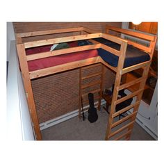Any Size L-Shaped #Loft #Bed Solid Wood 1000 Lbs.Wt Capacity