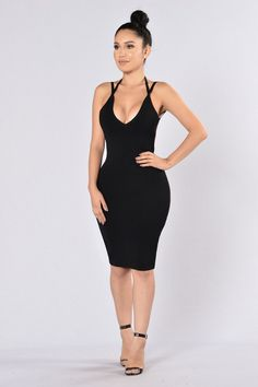 Popping Bottles Dress- Black