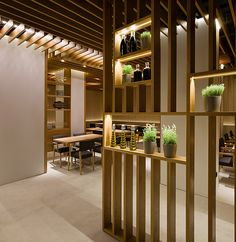 Negre Studio - Restaurante Besso, Palma de Mallorca  Open timber sections #white