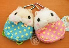 Une petite pochette en peluche de la marque japonaise Amuse (l'entreprise qui a créé l'Alpacasso). Collection Korohamu des hamsters très très kawaii, originaux et super doux~~(♡^x^♡) - Boutique kawaii en ligne www.chezfee.com