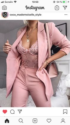 Rosa Spitzenbody Rosa Allover Look - - Outfit Ideen Classy Outfits, Chic Outfits, Trendy Outfits, Summer Outfits, Fashion Outfits, Womens Fashion, Fashion Trends, Pink Fashion, Classy Sexy Dress