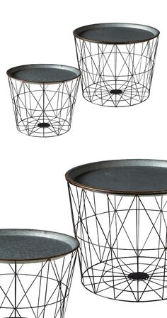 Take a traditional concept and update it with the Cramwell Nesting Tray Tables…