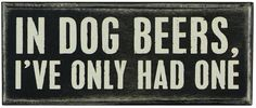 Dog Beers Block $8.95