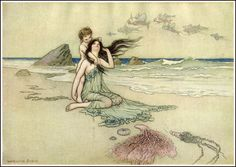 "by WARWICK GOBLE (1862-1943) from ""The Water Babies"" 1924"