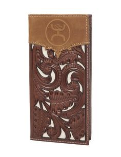 HOOey Brown & Ivory with Floral Tooling Overlay Logo Rodeo Wallet / Check Book Boyfriend Care Package, Boyfriend Gifts, My Boyfriend, Cowgirl Jewelry, Western Jewelry, Custom Wallets, Western Purses, Cowboy And Cowgirl, Beautiful Christmas