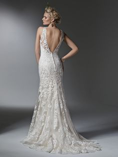 The lacework on this Sottero and Midgley Winifred wedding dress is just stunning.
