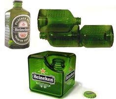 Interesting Heineken bottles - we persoanlly like the Cube
