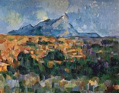 Mount Sainte Victoire 1904 06 by Paul Cezanne Paintings
