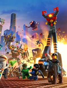 The Lego Movie Video Game. Breaking down a complex scene and build in working layers. Lego Film, Lego Movie 2, Game Movie, Lego Batman Party, Lego Custom Minifigures, Lego Duplo, Lego Bionicle, La Grande Aventure Lego, Lego Wallpaper