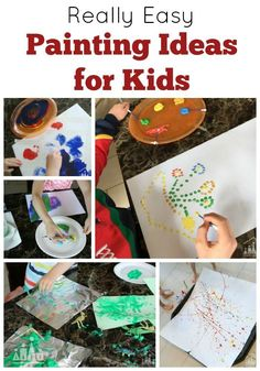 25+ Really Easy Painting Ideas for Kids. Do your kids love to Paint? We have brought together all of our best Kids Painting Ideas to inspire you and your kids to get your paint brushes (and other painting tools) out.