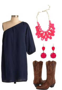 """""""Pink & Navy"""" by classically-preppy ❤ liked on Polyvore would be cute for Luke Bryan:)"""