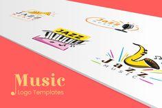 Music Logo Templates   GraphicMama Credit Companies, Free Web Fonts, File Organization, Music Logo, Smooth Jazz, Sports Logo, Logo Templates, Design Bundles, Save Yourself