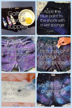 Cute galaxy shorts tutorial!