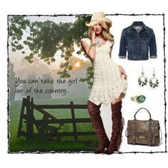 "Western dress -- ""But You Can't Take the Country Out of the Girl"" by exaybachay on Polyvore"