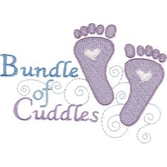 "This free embroidery design is called ""Bundle of Cuddles""."
