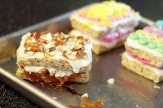 White Chocolate Stuffed Crispy Treats - Pretzels, Caramel, M's, Oreos and More!