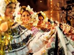 Polleras - traditional dress of Panama // every Panamanian woman´s dream is to wear a full pollera. From childhood, the girls learn to be proud of this amazing national dress.