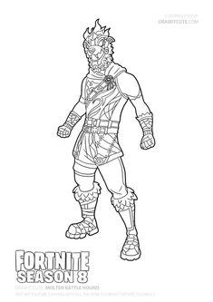 Fortnite battle royale coloring page Mezmer Skin Season 8