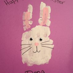 Bunny hand prints