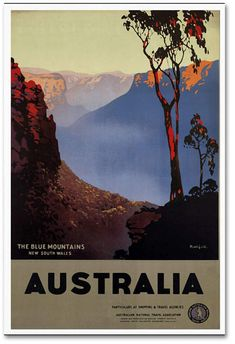 Trademark Global Vintage Apple Collection 'Australia Blue' Canvas Art - 24 x 16 x 2