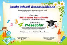 Formato de diplomas de preescolar - Imagui