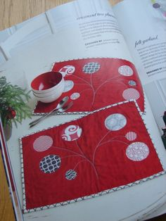 Ornament tree placemats - stitch magazine, winter 2011