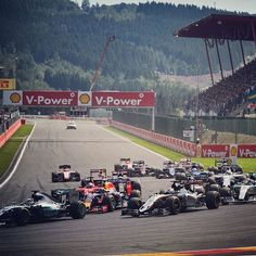 """""""Who made the best of that start? #BelgianGP #F1 #Formula1 #Spa"""""""