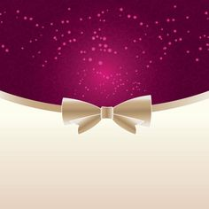 Free Vector Pink Elegant background Invitation / Greeting card with golden ribbon bow template illustration