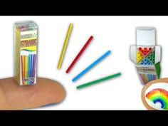 Miniature doll straws & plastic package tutorial