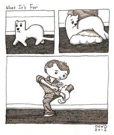 #ferret #comic by monday bear & http://www.pinterest.com/pin/154811305914795603/