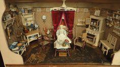 Antique dolls house kitchen.