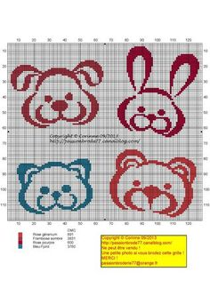 Bébé - baby - animaux - point de croix - cross stitch - Blog : http://broderiemimie44.canalblog.com/