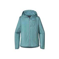 Women's Patagonia Houdini Jacket - Tubular Blue Jackets (145 NZD) ❤ liked on Polyvore featuring activewear, activewear jackets, patagonia sportswear, patagonia and logo sportswear