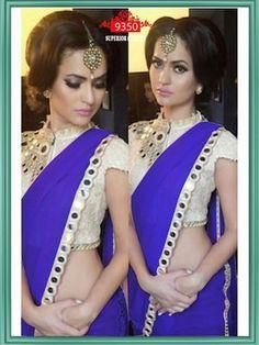 Beautiful Blue Georgette Saree 9350 Chanderi Sarees #sarees #saris #indianclothes #womenwear #anarkalis #lengha #ethnicwear #fashion #Bollywood #vogue #indiandesigners #handmade #britishasianfashion #instalove #desibride #bollywoodfashion #aashniandco #perniaspopupshop #style #indianbeauty #classy #instafashion #lakmefashionweek #indiancouture #londonshopping #bridal #allthingsbridal #statementpieces #weddingideas #jewelry #jewellery