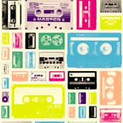 Mix Tapes (80s) by pennycandy, click to purchase fabric