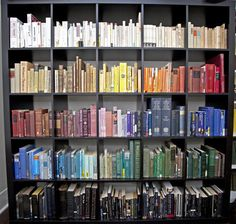 Color Coded Bookshelf Organization College Organisation Uni Life