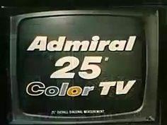 1966 admiral color console television
