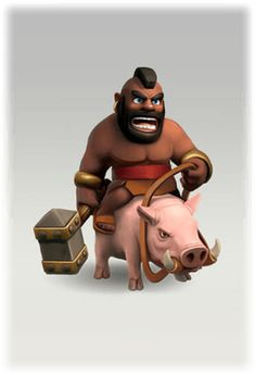 Clash of Clans Hog Rider - free download - clash of clans - hog rider - picture - png