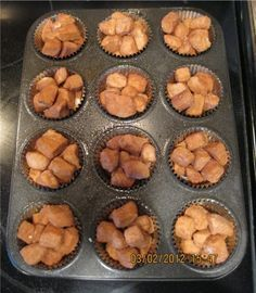 Easy Monkey Bread Muffins. These would be good for Christmas morning!