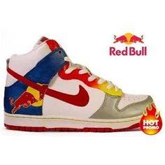 new arrivals 60db1 1c68e Mens Nike Dunk High Custom Red Bull