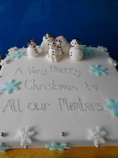 Christmas cake for a local group