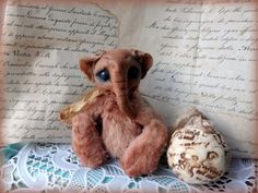 Купить Слоник. Мини кукла.Тедди - кремовый, авторская игрушка, авторская кукла, новогодний подарок