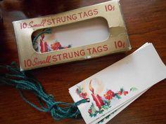 Vintage Antique Christmas Tags Original Box Complete
