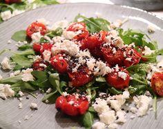 Rostad tomat med ruccola och fetaost - Metro Mode