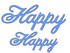 Cheery Lynn Designs - Happy (Set of 2) - B226, $6.95 (http://www.cheerylynndesigns.com/happy-set-of-2/)