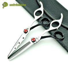 """6"""" black white teflon scossors professional hair scissors hairdresser hairdressing scissors barber shop supplies haircut shears"""