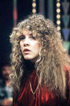 Stevie Nicks Fleetwood Mac in red velvet .